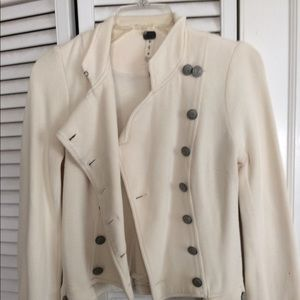 Free People's waist coat, Ivory in color.